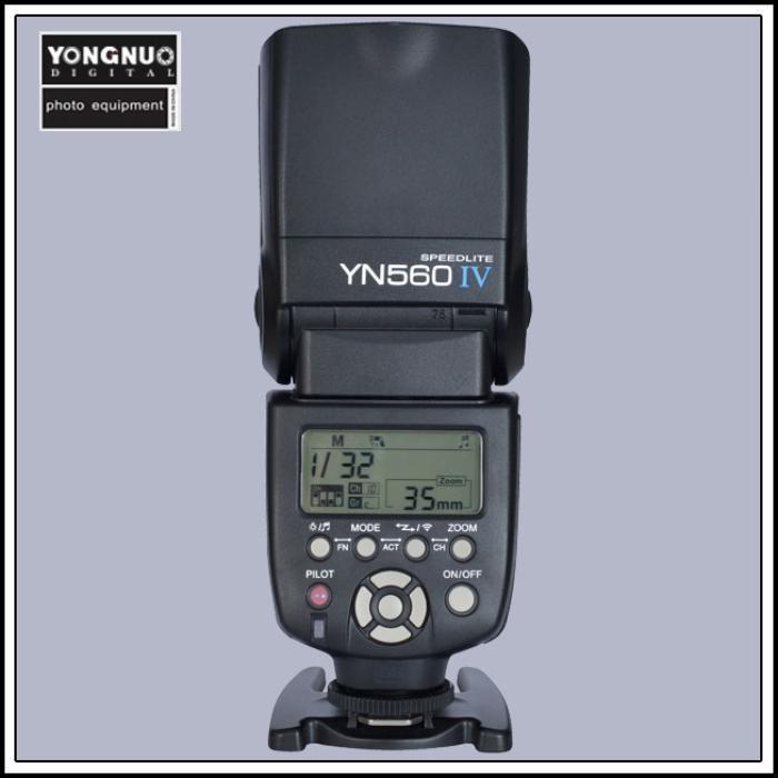 Yongnuo YN-560 IV Flash Speedlite for Canon Nikon Pentax Olympus DSLR Cameras (fujifilm)