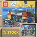 LEPIN DHL Kwik-e-mart LEPIN 16004 Los Simpsons Conjunto Mini bloques de Bloques de Construcción Ladrillos de Regalo De Navidad Clon 71016