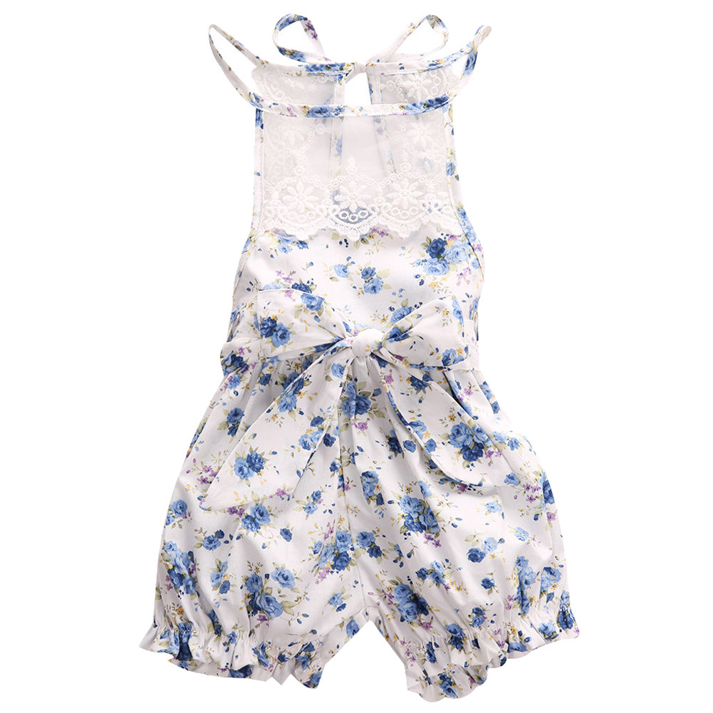 Newborn Baby Girl Lace Floral Romper Jumpsuit Outfits Backless Clothes , 0-3 Months ...