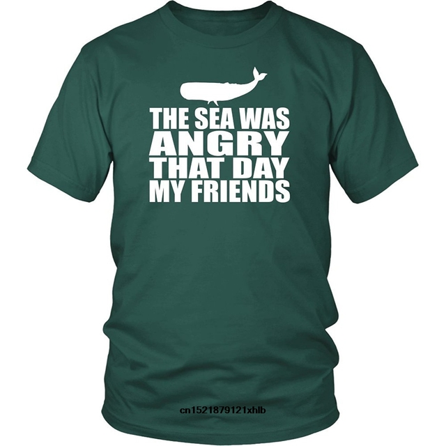 Men T Shirt Tee Spiral Sea Was Angry That Day My Friends Unisex