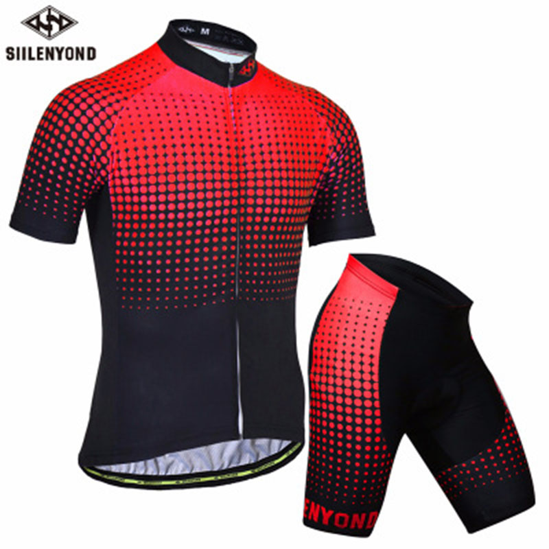 Hot 2018 New Cool Cycling Jersey Short Pants Set Short Sleeve Sportswear Polyester Summer Bike Cycling Clothing Ropa Ciclismo