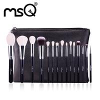 MSQ Makeup Brushes Set 15pcs Pro Foundation Powder Make Up Brushes Cosmetic Tool High Quality Goat