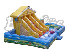 FREE SHIPPING BY SEA PVC Inflatable Slide Jumping House Inflatable Bouncer Combo