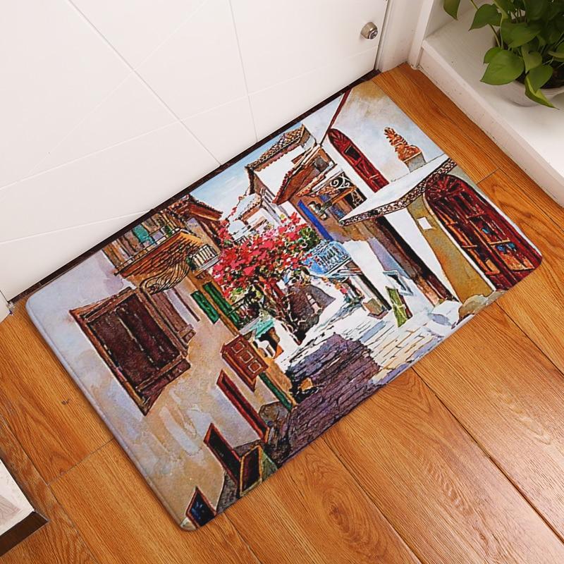 2017 Baru Dekorasi Rumah Indah SceneryCarpets non-slip Karpet Dapur - Tekstil rumah - Foto 4
