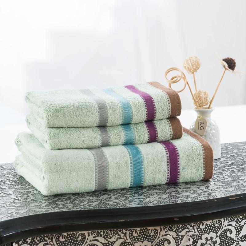 Luxury Bamboo Striped 3 PCS Hotel Travel Beach Bath Towel