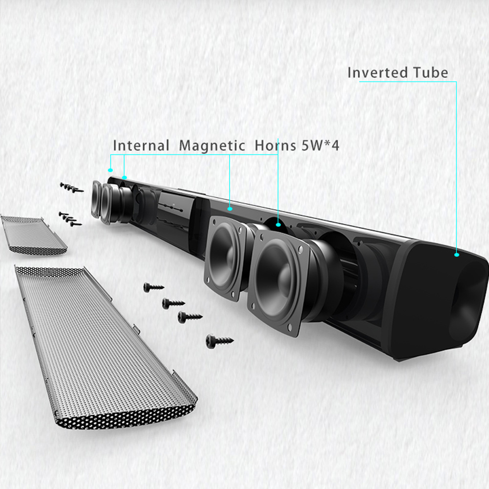 Bluetooth Speaker Portable Subwoofer Stereo Sound Remote Control Powerful Outdoor Sound Bar Wireless Multifunction Indoor