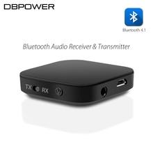 DBPOWER 2-en-1 Bluetooth Receptor y Transmisor Inalámbrico Receptor de Audio Bluetooth 4.1 Transmisor para Los Altavoces y Auriculares Mp3