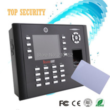 3 inch color screen TCP/IP fingerprint time attendance 13.56MHZ MF card reader time attendance with camera ICLOCK680/IC