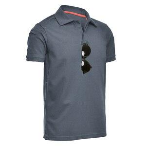 Image 5 - MEGE Dropshipping Men Polo Shirt Summer Tactical Air Force Casual Military Army short Shirt tee polos para hombre camisa polo