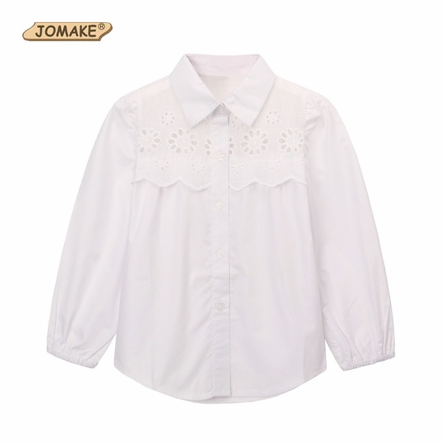 eae39ac02ea Children Clothing Short Sleeve And Long Sleeve School Girl Blouse White  Baby Girls Shirt Floral Casual