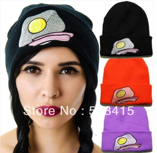 Зима яйцо вышивка шерсть хип-хоп трикотаж мужчины и женщины маски и шапки осень свободного покроя кепка шляпы