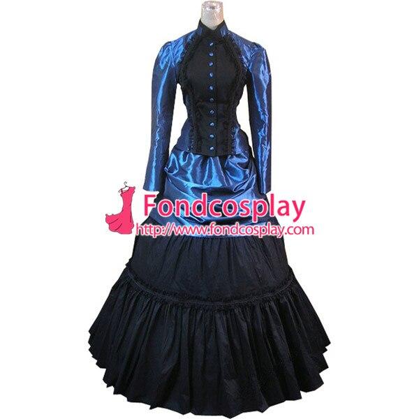 b4ca7eddce64c Gothique Lolita Punk Médiévale Robe Longue Robe De Soirée Veste Sur Mesure