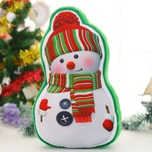 Christmas series Fine printing Santa Claus pillow Deer sock Sofa cushions Plush toys Children gifts