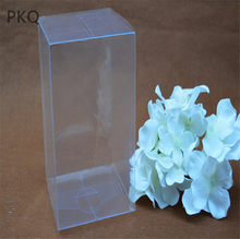 9x9x27cm Plastic Clear PVC Boxes Transparent Waterproof Gift Box PVC Plastic Packaging Box For Souvenir/Vase/Toys Display 20pcs(China)