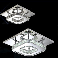 LED Crystal Luminaria Abajur Ceiling Lights Indoor Lighting Modern Lustre de Plafond Home Lighting Aisle lamps Illumination