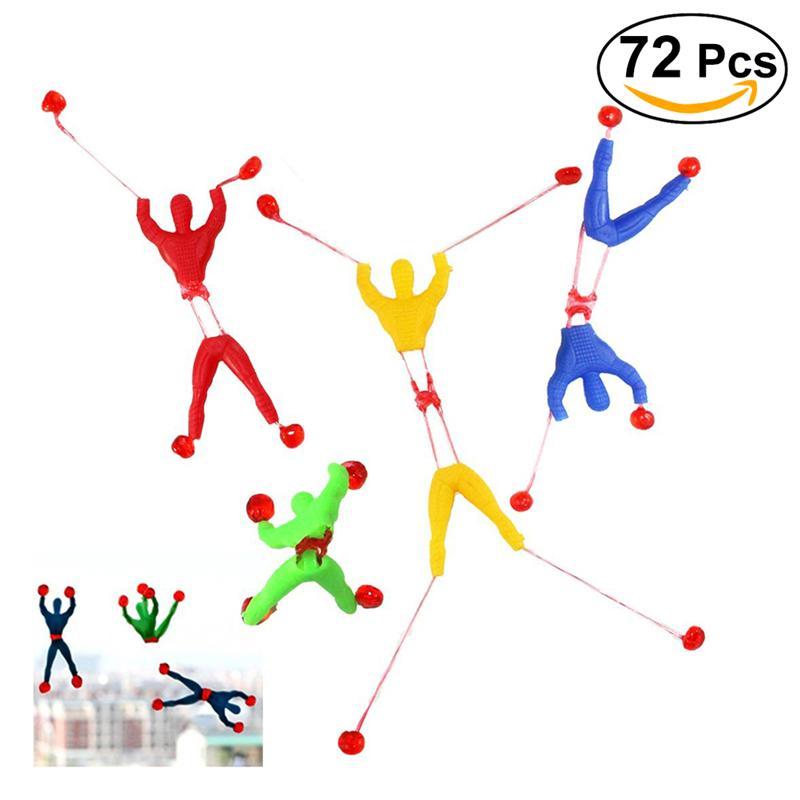 72pcs Kids Stretchy Sticky Toy Set Sticky Hands Wall Climber Men Hammers Adult Jokes Favors Gifts For Children Baby Kids