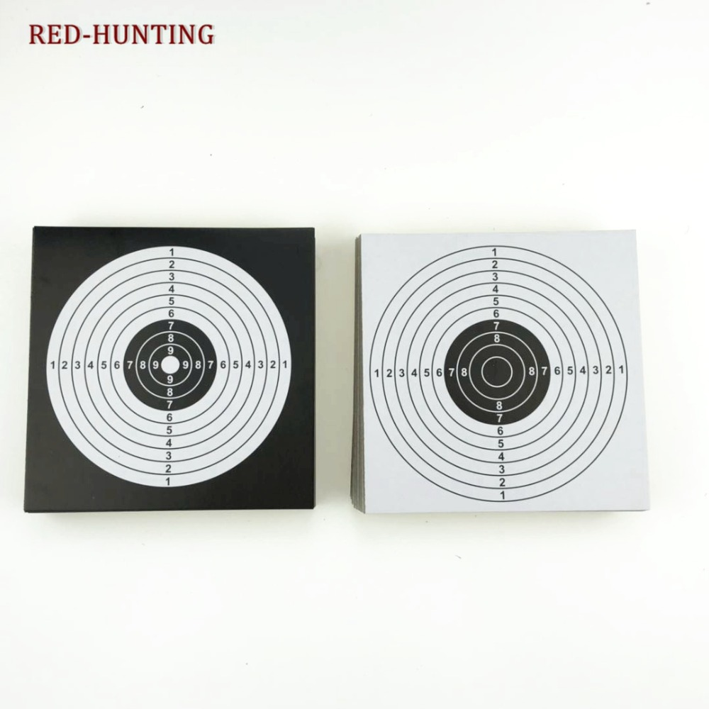 New 100pcs Target Papers 14x14 Tactical Vertical Square Target Airsoft Gun Slingshot Bullet for Hunting Shooting