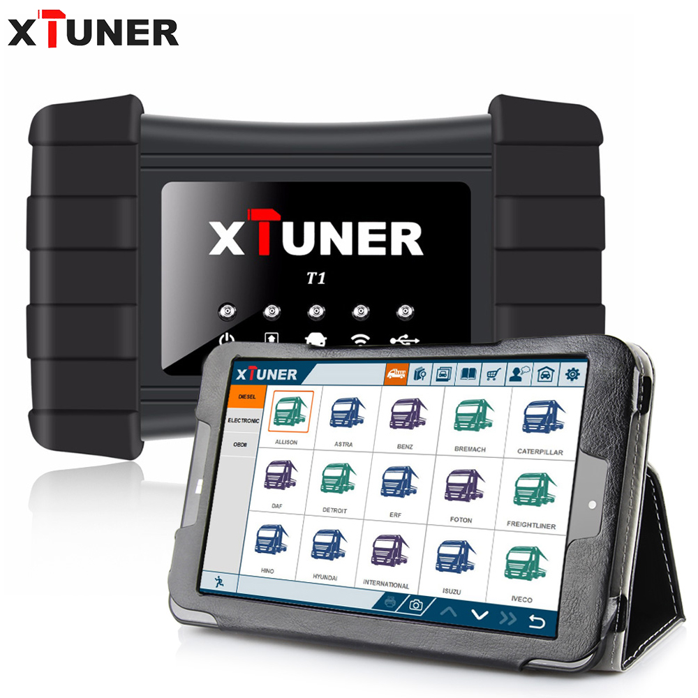 XTUNER T1 Heavy Duty Camions Auto Outil De Diagnostic Intelligent Soutien WIFI Lire ECU Info, Lire Dtc, effacer les Dtc, ABS + WIN10 tablet