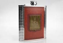 Russian army high-grade outdoor portable stainless steel hip flask 18 oz  small bottle water