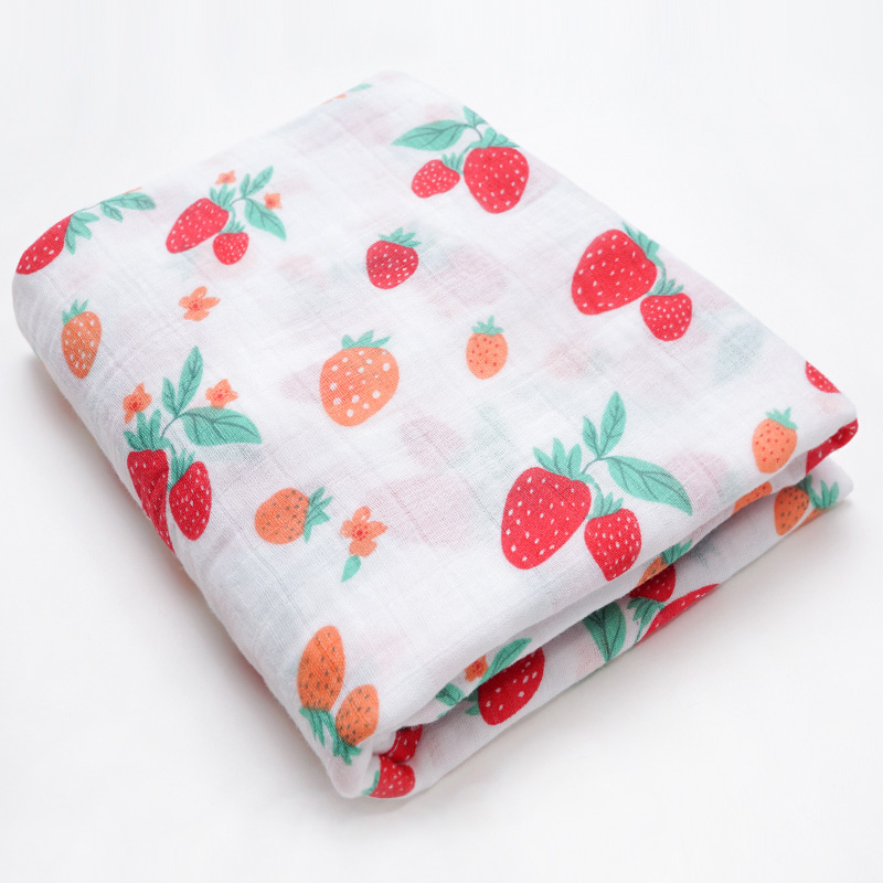 Новинка; хлопковые Супермягкие подгузники из муслина; детское одеяло; Банное полотенце; пеленка; аксессуары для детской кровати; детское одеяло для новорожденных - Цвет: Strawberry