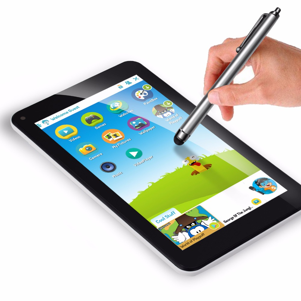 все цены на 16GB ROM 7 Inch android 7.1 Tablet IPS screen 1024*600 touch Screen Quad Core Tablets With Stylus Pen for kids gift wifi tablet