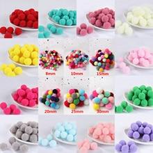 Pompom 8mm 10mm 15mm 20mm 25mm 30mm Soft Pompones Fluffy Plush Crafts DIY Pom Poms Ball Furball Home Decor Sewing Supplies