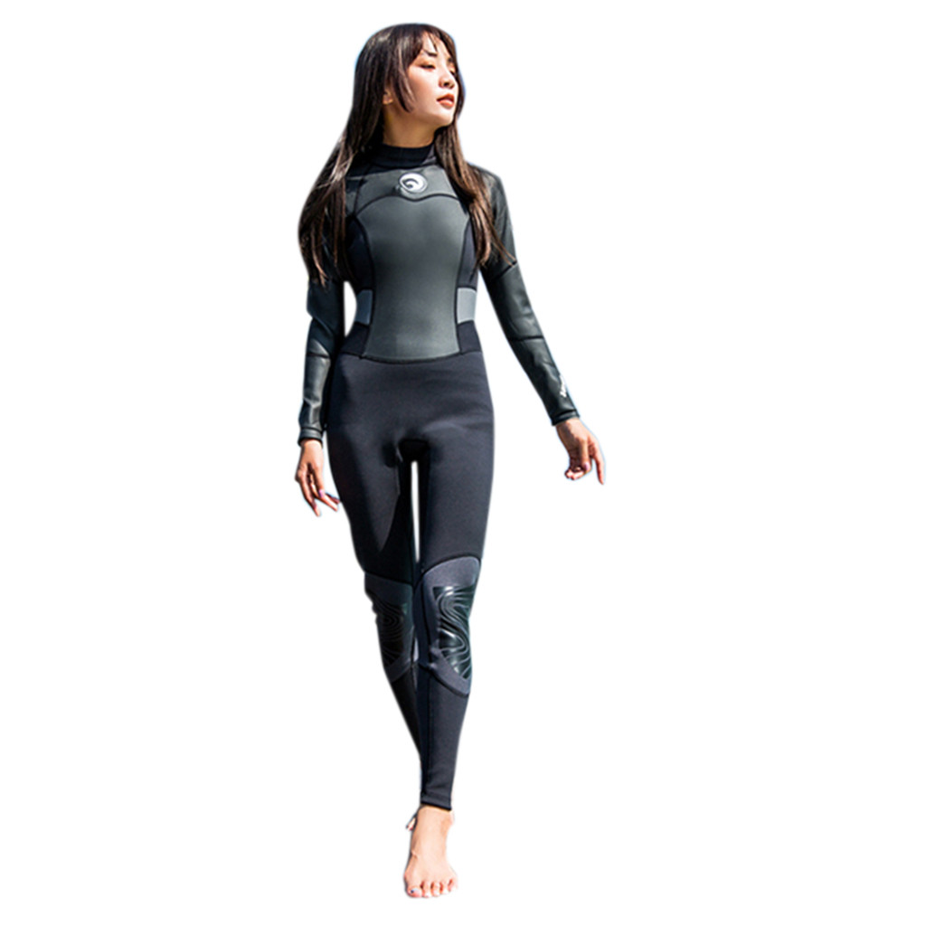 New Girls Young Sexy Women 1 5mm Neoprene Long Sleeve Diving Wetsuit Spearfishing Suit Swimwear One