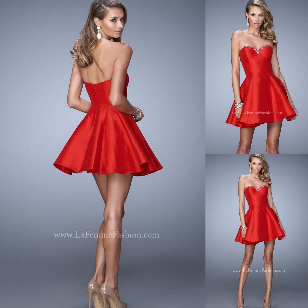 Sweetheart neckline cocktail dress