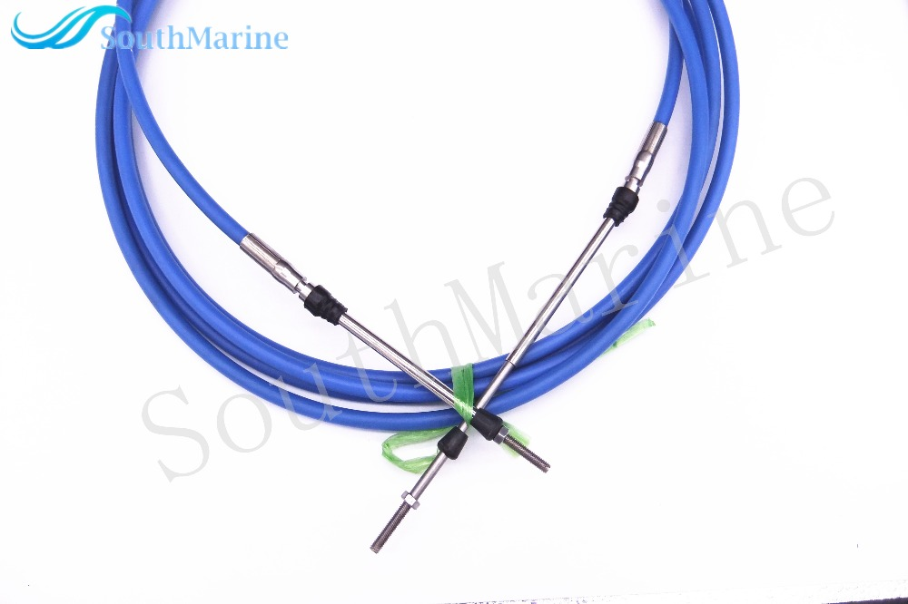 Remote Control Throttle Shift Cable 17ft for Yamaha Tohatsu Steering System Blue 5.18m Boat Engine Outboard Motor цены