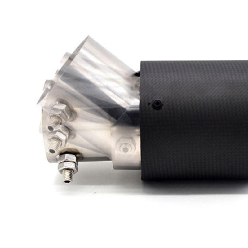 Vehemo 63-89 мм настоящее карбоновое волокно глушитель наконечник трубы автомобиля Хвостовая труба из магазина производителя, из нержавеющей стали выхлоп шумоподавление выхлопной трубы