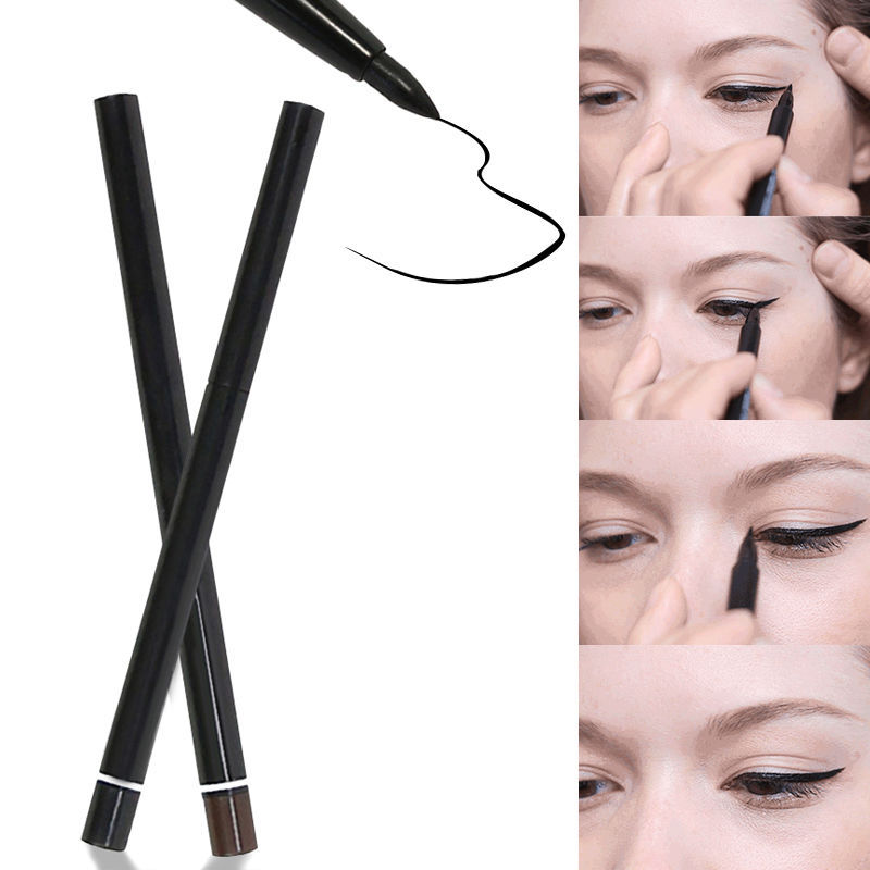 Summer Style Waterproof Auto Twist Up Makeup Eyeliner Eyebrow Pencil Cosmetic Liquid Eye Liner Eyeliner Pen Black Brown free shipping 3 pp eyeliner liquid empty pipe pointed thin liquid eyeliner colour makeup tools lfrosted purple