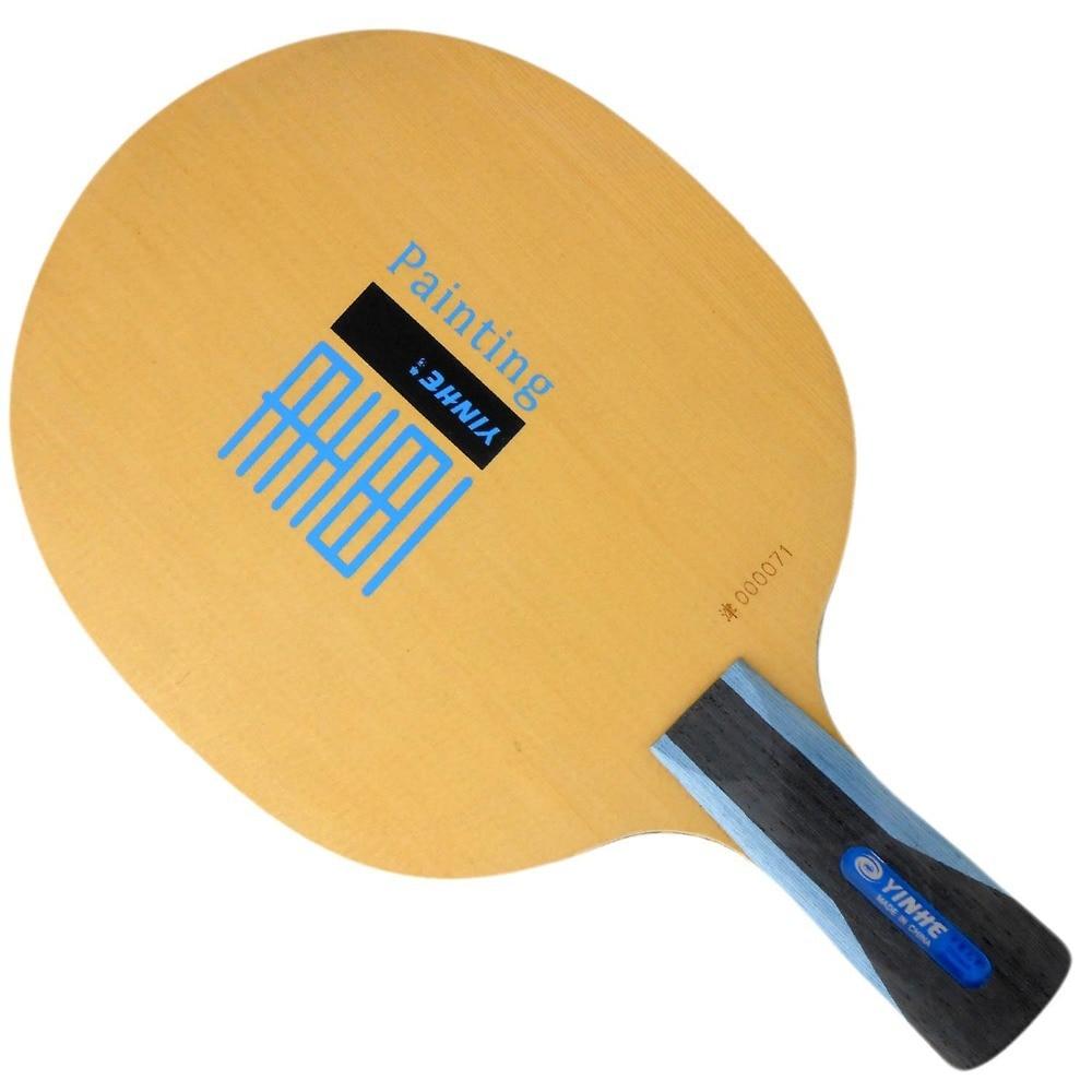 Yinhe Milky Way Galaxy Painting penhold short handle CS table tennis PingPong blade for pingpong racket Loop Attack ...