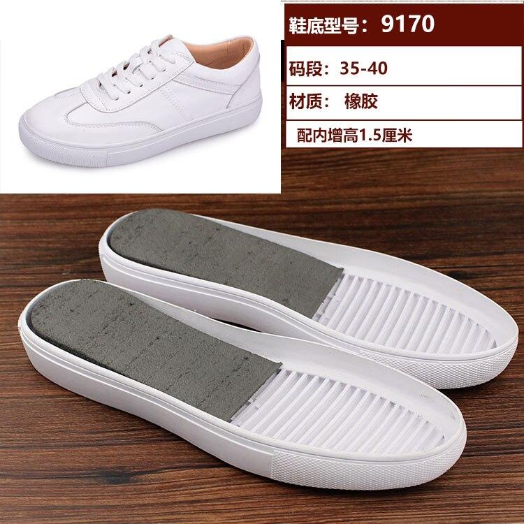 Para De Señoras Zapatos Pequeños Diy Material Suelas Accesorios Cuero Blancos 3L4Aq5jR