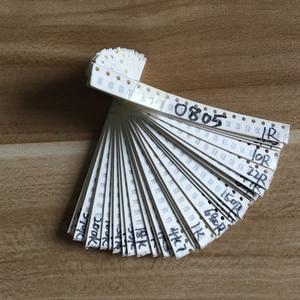 2000pcs 0805 SMD Resistor Kit Assorted Kit 1ohm-1M ohm 5% 80valuesX 25pcs=2000pcs Sample Kit(China)