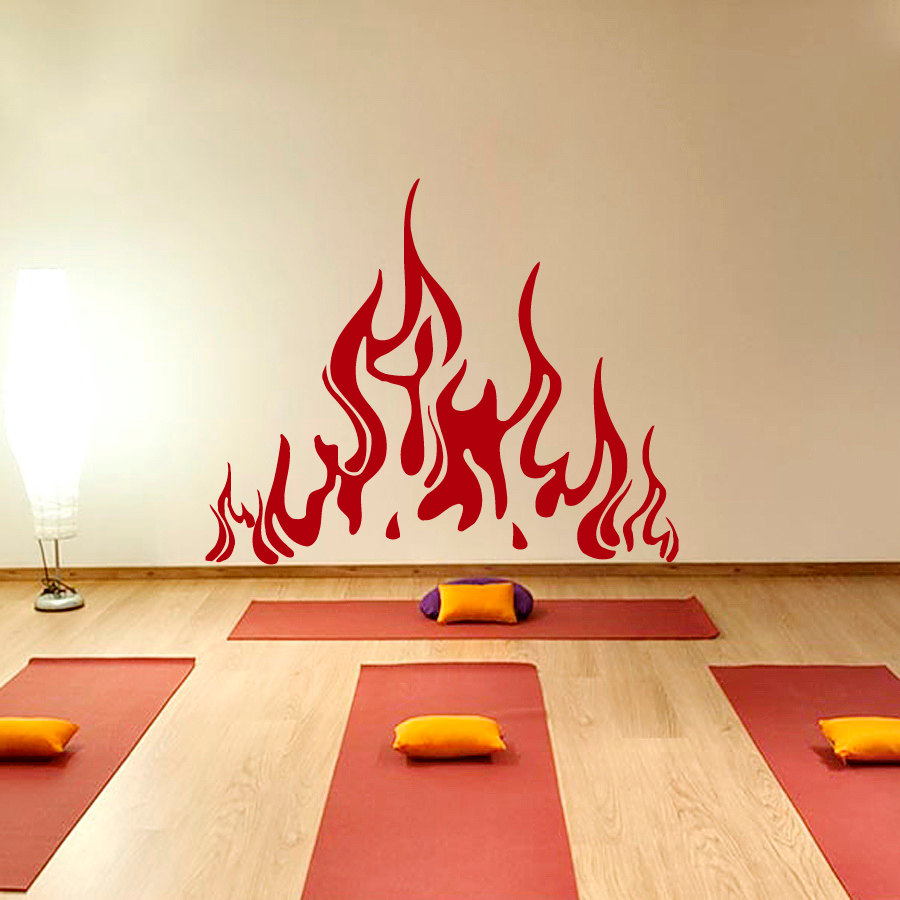 Special Wall Decals Fire Flame Decal Vinyl Sticker Fireplace Home Decor Art Living Room Interior Decor Poster NY-415