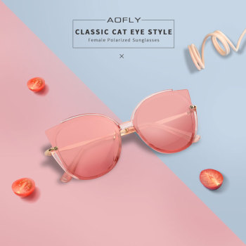 AOFLY BRAND DESIGN Fashion Lady Polarized Sunglasses Women Unique Frame Cat Eye Sun Glasses Gafas UV400 A106 1