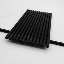 Карандаши черные деревянные с ластиками, 100 шт.