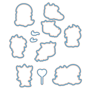 Cute Hatching Dragon Transparent Clear Silicone Stamp Seal For DIY Scrapbooking Photo Album Decorative Clear Stamp