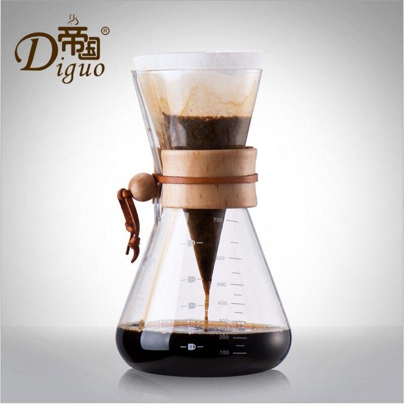טפטוף חם 700 ML זכוכית אספרסו קפה קרח טפטוף קר Percolators טפטף קפה בית כלים