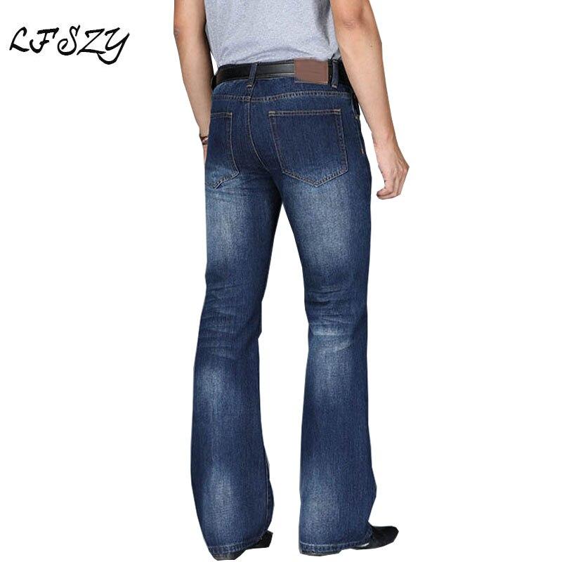 Jeans Men 2020 Mens Modis Big Flared Jeans Boot Cut Leg Flared Loose Fit high Waist Male Designer Classic Denim Jeans Pants