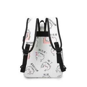 Image 3 - Haute qualité toile sacs décole pour filles cartable mode impression sac à dos pour dames sacs à dos mochilas sac à dos
