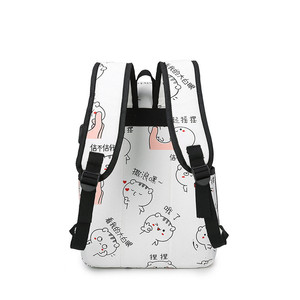 Image 3 - High quality canvas school bags for girls schoolbag Fashion printing backpack for ladies backpacks mochilas rucksack