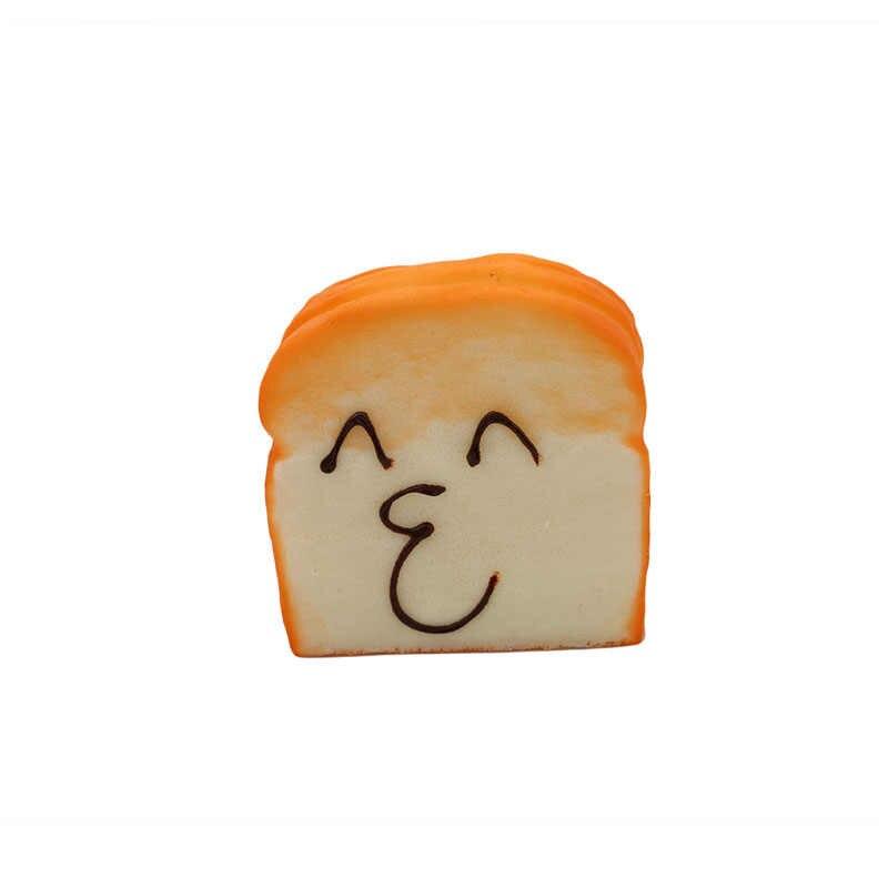 Имитация искусственный хлеб милый каваи лицо большой тост ломтики торта витрина магазина украшения кухни модель PU Материал