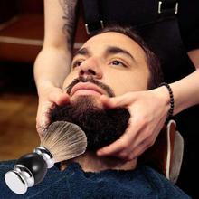 Для мужчин помазок Роскошные барсучьего ворса бритья кисти Парикмахерская красоты лица Борода гребень чистящие инструмент металлическое основание