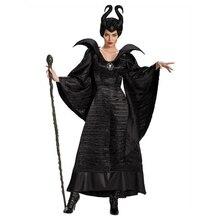 Костюм малефисенты из фильма «злая ведьма»; костюм для костюмированной вечеринки на Хэллоуин; нарядное платье для вечеринки