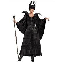 Maleficent Costume Cosplay Outfit Fancy Dress Movie Halloween Fantasia Evil Witch Party