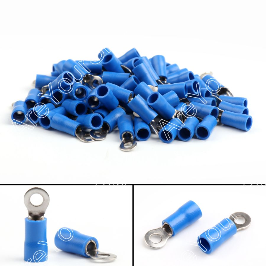 Areyourshop Crimp Terminals  RV2-3 Insulated Ring Wire Connector Crimp Terminals Cord  1000PCS Termi wholesal e1008 insulated cable cord end bootlace ferrule terminals tubular wire connector for 1 0mm2 wire 1000pcs