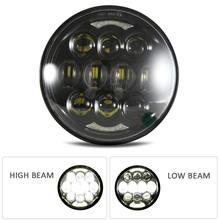 купить 5-3/4 5.75 LED Headlight for  Motorcycle Sportster 883 Iron Dyna Street Bob Nightster Night Rod Driving Light дешево