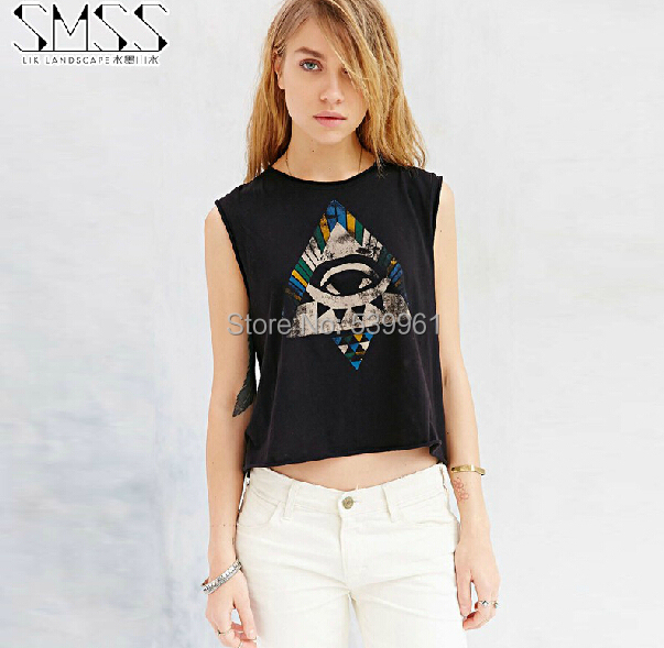 716f7c39d Fitness 2015 Modal Cotton Crop Top Camisetas Blusas Cropped Tops For Women  Sleeveless Plus Size Loose T-shirt Tight-fitting
