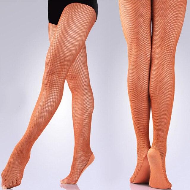 211168f1a Seamless Professional Fishnet Dance Tights Toffee Caramel Black Tan Hard  Yarn Ballroom Latin Dance Tights Pantyhose